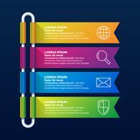 Schéma de disposition de flux de travail infographie conception vecteur