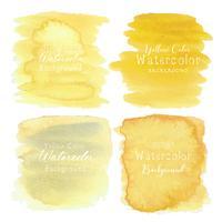 Aquarelle abstraite jaune, élément Aquarelle pour carte, illustration vectorielle.