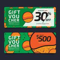 Bon cadeau, bon de réduction, modèle de coupon doré, concept de design pour bon cadeau