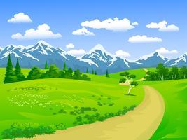 chemin et montagne vecteur