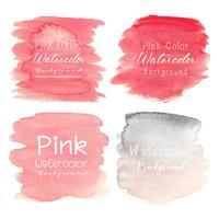 Fond aquarelle abstraite rose. Illustration vectorielle vecteur