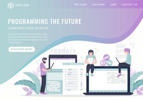 Page de destination des services de programmation vectorielle vecteur