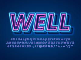 Effet de texte 3D Pop Neon vecteur