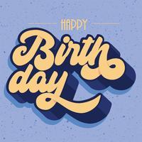 Joyeux anniversaire Vector Design