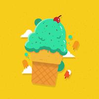 Vecteur de crème glacée d'été