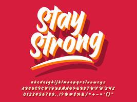 Police de lettrage de typographie simple