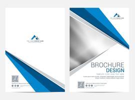 Modèle de mise en page de brochure, arrière-plan de conception de la couverture