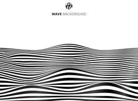 Lignes noires abstraites, motif de rayures ondulées, surface rugueuse vecteur