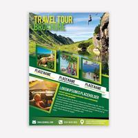 Brochure de voyage vecteur