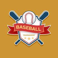 Ensemble d'emblèmes de baseball vecteur