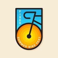 Badge de vélo de qualité supérieure vecteur