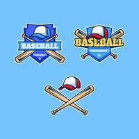 Badge de tournoi de baseball vecteur