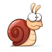 Escargot de dessin animé drôle et mignon. Illustration vectorielle vecteur