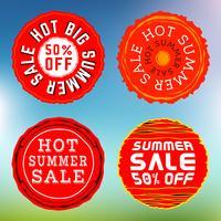 Timbres de vente d'été, insignes vecteur
