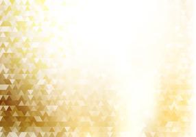 Triangles de hipster géométrique abstrait or et texture avec effet d'éclairage vecteur