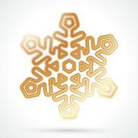 Icône de flocon de neige or