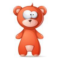 Ours brun mignon, drôle, grizzly, nounours. vecteur