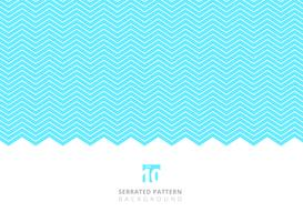 Motif de lignes dentelées de couleur blanche abstraite sur fond bleu avec espace de copie. vecteur