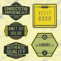 Insignes, timbres ou logos d'époque vecteur