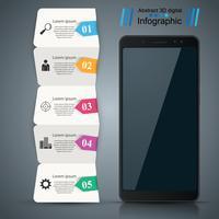 Gadget numérique, smartphone. Infographie de l'entreprise.