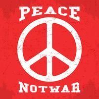 Affiche de la paix vintage vecteur