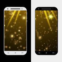 Étoile d'or smartphone vecteur