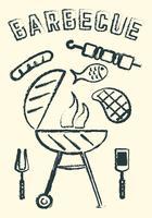 barbecue vecteur