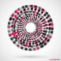 Logo des cubes en rotation vecteur