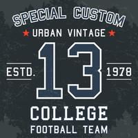 Affiche de football vintage