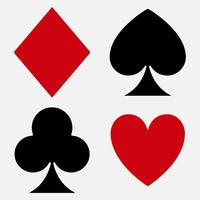 Costume de carte à jouer vecteur