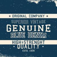 Étiquette vintage deim