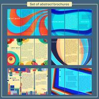 Ensemble de modèles de brochures vecteur