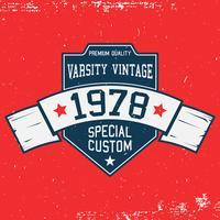 Modèle de t-shirt vintage