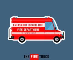 Camion de pompiers isolé vecteur