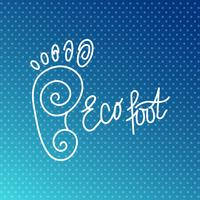 Pied écologique. Logo du centre de santé, salon orthopédique écologique.
