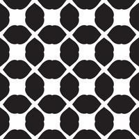 Carrelage de modèle sans couture de vecteur universel noir et blanc.