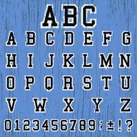 Modèle vintage alphabet