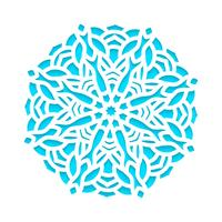 Modèle de flocons de neige découpés au laser et gravés.