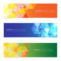 Modèle de bannière web design abstrait.