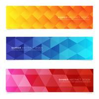 Modèle web bannière de conception abstraite.