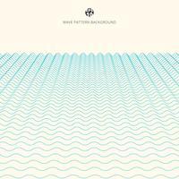Lignes bleues abstraites vague fond de perspective, motif de rayures ondulées, surface rugueuse vecteur