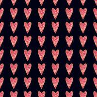 Modèle or vectorielle continue avec des coeurs. Illustration vectorielle
