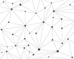 Abstrait de réseau de technologie polygonale avec points de connexion - illustration vectorielle