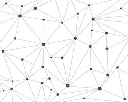 Abstrait de réseau de technologie polygonale avec points de connexion - illustration vectorielle vecteur