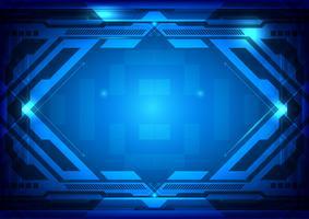 Illustration vectorielle de technologie numérique abstrait bleu vecteur