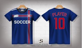 Modèle de maquette sport maillot et t-shirt de football, conception graphique pour uniformes de kit de football ou de vêtements de sport. vecteur