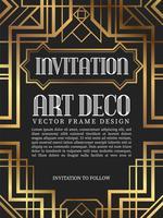 Style art déco de luxe cadre vintage. illustration vectorielle