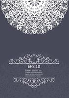 Éléments de décoration vintage mandala blanc vector illustration