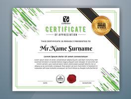 Modèle de certificat professionnel polyvalent moderne