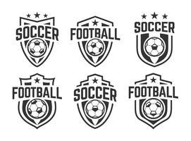 ensemble d'emblèmes de football classique vector